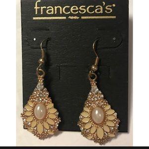 Never been worn Francesca earrings!